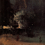 James Abbott Mcneill Whistler - Nocturne in Black and Gold The Falling Rocket