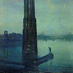 James Abbott Mcneill Whistler - Whistler_James_McNeill_Nocturne_in_blue_and_green