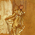 Джеймс Эббот Мак-Нейл Уистлер - Whistler_A_Dancing_Woman_in_a_Pink_Robe_Seen_from_the_Back