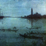 James Abbott Mcneill Whistler - Whistler_Blue_and_Silver_Nocturne_in_Blue_and_Silver_The_Lagoon_Venice