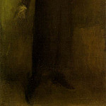 James Abbott Mcneill Whistler - Whistler Brown and gold, 1895-1900, 95.8x51.5 cm, Hunterian
