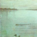 James Abbott Mcneill Whistler - Whistler_Nocturne_Blue_and_Silver