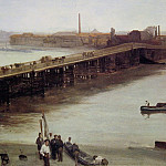 James Abbott Mcneill Whistler - Brown_and_Silver_Old_Battersea_Bridge