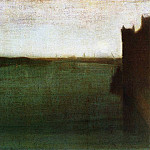 James Abbott Mcneill Whistler - Whistler_Nocturne_Grey_and_Gold