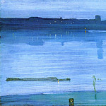James Abbott Mcneill Whistler - Whistler_Nocturne_Blue_and_Silver_Chelsea