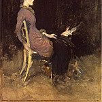 James Abbott Mcneill Whistler - Whistler_Black_and_Red_aka_Study_in_Black_and_Gold_(Madge_O-Donoghue)