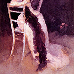 James Abbott Mcneill Whistler - Rose and Silver Portrait of Mrs Whibley