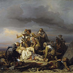 Unknown painters - Finding the Body of King Gustav II Adolf of Sweden after the Battle of Lütze
