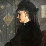 Unknown painters - Woman in Black