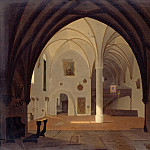 Carl Blechen - Interior of the parish church in Partenkirchen