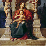 August Ferdinand Hopfgarten - Enthroned Madonna