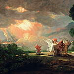 Benjamin West - Lot Fleeing from Sodom