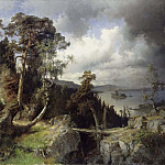 Lucas van Valckenborch - Swedish Landscape. Motif from Kolmården