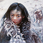 Aio Xun - Aio Xun Original Oil Painting SNOWSTORM SWEEPING TRUO11