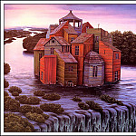 Яцек Йерка - bs-ahp- Jacek Yerka- Darkness Falls On The River