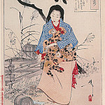 Yoshitoshi - 028 Lady Chiyo and The Broken Water Bucket