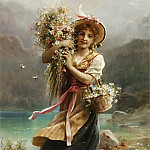 Hans Zatzka - The Flower Girl