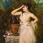 Hans Zatzka - A beautiful woman bathing