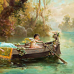 Hans Zatzka - Boat trip with Cupid