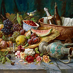 Hans Zatzka - Large Still Life with Fruit