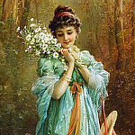 Hans Zatzka - Girl with edelweiss