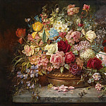 Hans Zatzka - Bouquet of Flowers in a Copper Bowl