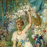 Hans Zatzka - Beauty in the lush garden