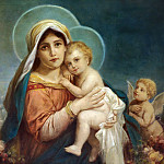 Hans Zatzka - Madonna and child
