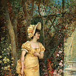 Hans Zatzka - Woman in the Garden