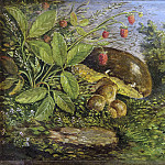 Hans Zatzka - Glade with porcini mushrooms and blackberries