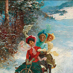 Hans Zatzka - The sledge ride