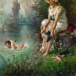 Hans Zatzka - LOVE BY THE RIVERS EDGE