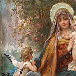 Hans Zatzka - Madonna and the Infant Jesus