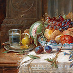 Hans Zatzka - Still life with fruit and mushrooms