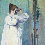 Young girl in the mirror