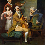 Self Portrait With his Daughter, Maria Theresa and Possibly Giacobbe and James Cervetto