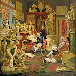 Johann Zoffany - Charles Townley and his Friends in the Towneley Gallery, 33 Park Street, Westminster