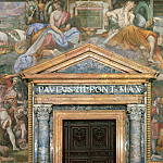 Musei Vaticani - fresco - Charles V at the Taking of Tunis in 1535, Pope Gregory VII Pardoning Henry IV in Canossa