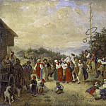 Unknown painters - Midsummer Dance at Rättvik