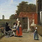 A Dutch Courtyard, Pieter de Hooch