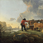 Aelbert Cuyp - Herdsmen Tending Cattle, National Gallery of Art (Washington)