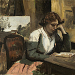 Jean-Baptiste-Camille Corot - Young Girl Reading, National Gallery of Art (Washington)
