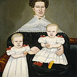 Erastus Salisbury Field – Mrs. Paul Smith Palmer and Her Twins, National Gallery of Art (Washington)