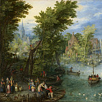 Jan Brueghel the Elder – River Landscape, National Gallery of Art (Washington)