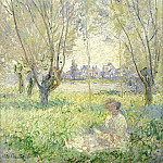 National Gallery of Art (Washington) - Claude Monet - Woman Seated under the Willows