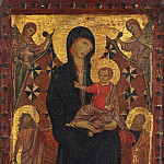 Attributed to Cimabue - Madonna and Child with Saint John the Baptist and Saint Peter [Attributed], National Gallery of Art (Washington)