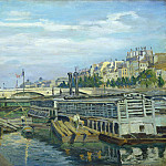 National Gallery of Art (Washington) - Jean-Baptiste-Armand Guillaumin - The Bridge of Louis Philippe