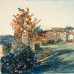 National Gallery of Art (Washington) - John Ruskin - The Garden of San Miniato near Florence