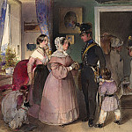 Carl Schindler - A Young Officer Saying Farewell to His Family, National Gallery of Art (Washington)