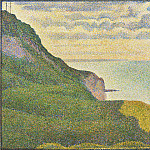 National Gallery of Art (Washington) - Georges Seurat - Seascape at Port-en-Bessin, Normandy